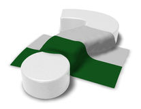 Question mark and flag of saxony. 3d illustration Royalty Free Stock Images