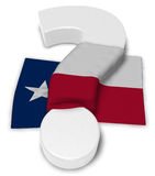 Question mark and flag of texas Royalty Free Stock Images