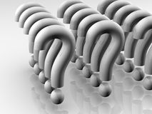 Question mark formation. Army like question mark formation.High resolution 3D render Stock Images
