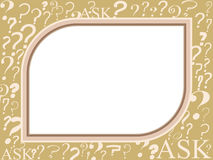 Question mark frame Royalty Free Stock Image