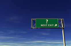 Question Mark Freeway Exit Sign royalty free stock image