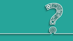 Question mark from gears Royalty Free Stock Images