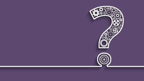 Question mark from gears. Creative Question mark with gears. Eps10 vector for your design Stock Image
