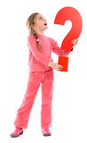 Question mark girl Stock Photography