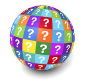 Question Mark Globe Concept Royalty Free Stock Photos