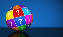 Question Mark Globe Royalty Free Stock Photography