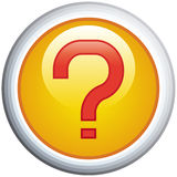 Question Mark Glossy Vector Icon Royalty Free Stock Photography