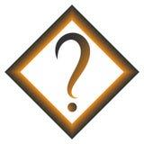 Question mark in gray and orange square. Vector icon. Flat design style Stock Photo