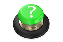 Question mark ? Green button Stock Images