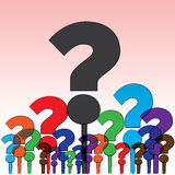 Question mark in group Royalty Free Stock Photo