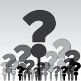 Question mark in group Royalty Free Stock Images
