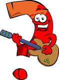 Question mark guitar player Royalty Free Stock Image