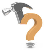 The question mark hammer Stock Images