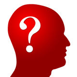 Question Mark In Head Royalty Free Stock Photos