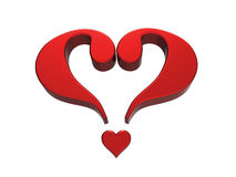 Question Mark Heart 1 Stock Photography