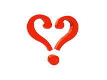 Question Mark Heart 2 Royalty Free Stock Image