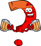 Question mark holding beer Royalty Free Stock Photo