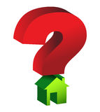 Question mark house Stock Photos