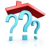 Question mark and house Stock Image