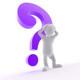Question Mark. Hovering over a character Royalty Free Stock Photo