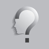 Question mark human head symbol Royalty Free Stock Photo