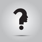 Question mark human head symbol Stock Photos