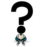Question mark icon. A cartoon question mark icon Royalty Free Stock Image