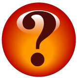 Question mark icon Royalty Free Stock Photography