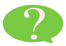 Question Mark, icon business. With green color Stock Photo