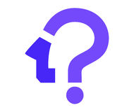 Question Mark Icon Design Photos stock