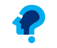 Question Mark Icon Design Photo stock