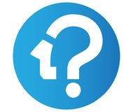 Question Mark Icon Design Image libre de droits