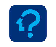 Question Mark Icon Design Photographie stock libre de droits