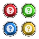 Question mark icon glass button stock illustration