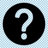 Question mark icon. Question mark vector illustration stock illustration