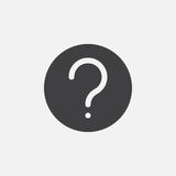 Question mark icon Vector illustration isolated on white . Stock Image