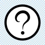Question mark icon. Vector illustration royalty free illustration