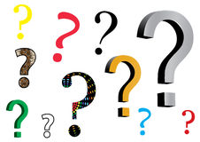Question mark icons Stock Image