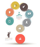 Question mark with icons Royalty Free Stock Photo