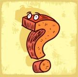 Question mark illustration , vector icon. Royalty Free Stock Photos