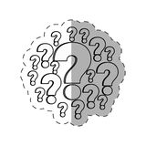 Question mark image outline Royalty Free Stock Photos