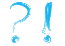 Question mark with info Stock Images