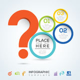 Question mark info graphic presentation Royalty Free Stock Photography