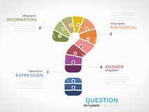 Question mark. Infographic template with puzzled jigsaw symbol Stock Photos