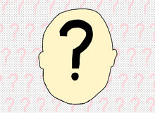 Question Mark Inside Human Head Photo stock