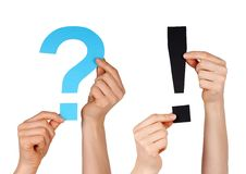A question mark and an interrogation mark Royalty Free Stock Photos