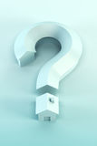 Question mark isolated 3d render Royalty Free Stock Photos