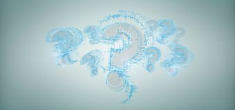 Question mark isolated on a background. View of Question mark isolated on a background royalty free stock photos