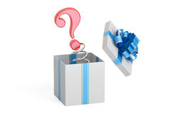 Question Mark Jack in the Gift Box, 3D rendering Stock Photography