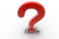 Question mark and job Royalty Free Stock Photo